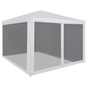 VidaXL Tente de réception pliable avec 4 parois en maille 3 x 3 m