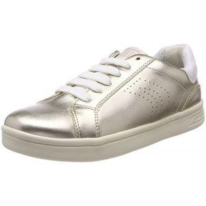 Geox Djrock A, Sneakers Basses Fille, Or (Lt Gold), 33 EU