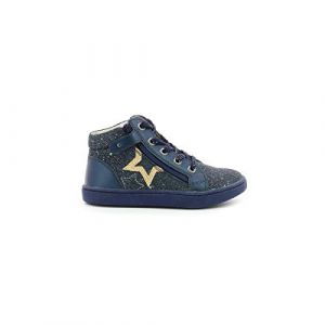 Kickers Lilustar, Sneakers Haute Fille, Marine, 29