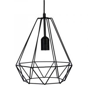 Lampe Suspension Métal 26cm Noir Prix