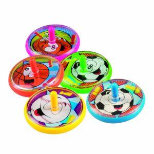 5 toupies colorées sport 4 cm