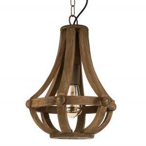 Eglo Kinross lustre bois lumière