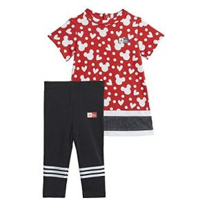 Adidas Ensemble INF DY MM SUM Rouge - Taille 12-18 Mois