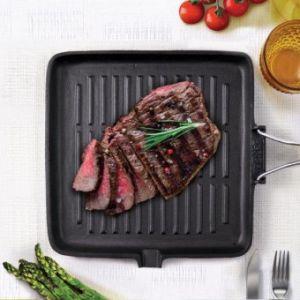 Bialetti 0ltg024 - Grill induction avec manche pliable (24 x 24 cm)