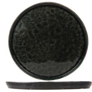 Cosy & Trendy Assiette plate ronde noire et verte 27cm - Laguna Verde