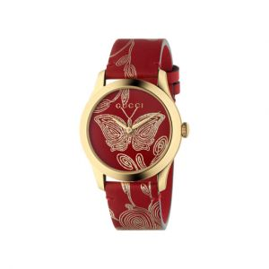 Gucci Montre Femme G-timeless Rouge