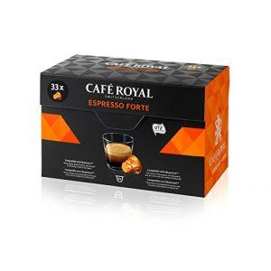 Café Royal Espresso Forte - 33 Capsules Compatibles avec le Système Nespresso
