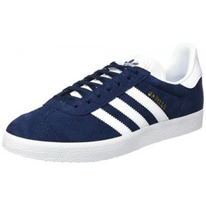 Adidas Gazelle, Baskets Basses Femme, Bleu (Collegiate Navy/Footwear White/Gold Metallic), 38 EU