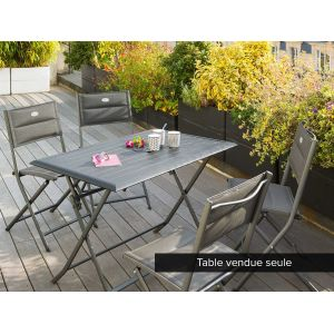 Hesperide Azua 4 places - Table de jardin rectangulaire 110 x 70 x 71 cm