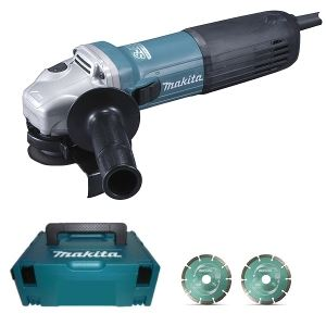Makita GA5040JD - Meuleuse 125 mm 1100W avec coffret Systainer