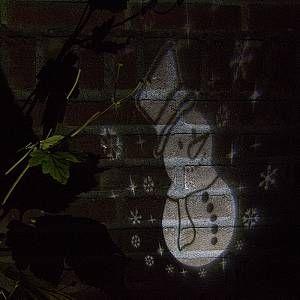 Projecteur laser LED en bonhomme de neige pour extérieur 6 x 6 x 20 cm