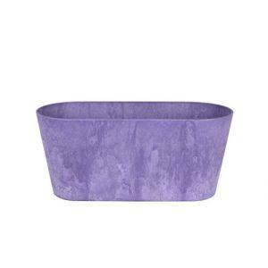 Artstone Pot de Fleurs, Jardinière Claire, résistant au Gel et ultraléger, Violet, 38x16x17cm