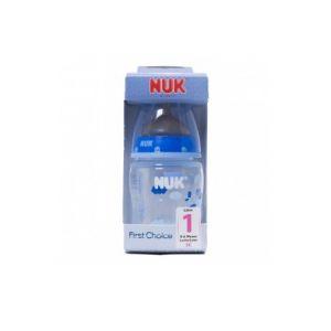 Nuk Coton party bleu latex bleu tétine 0-6 mois 150ml 1pc bouteille bleue
