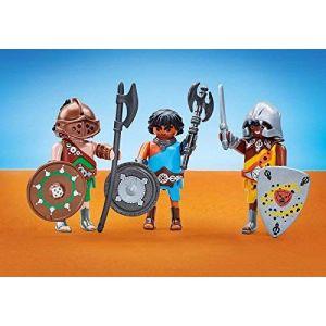 Playmobil 6590 - Romains - Les 3 Gladiateurs - Emballage Plastique, Pas de Boîte