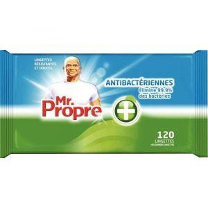 Mr. Propre Paquet de 108 lingettes ou 54 grandes lingettes antibacteriennes