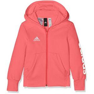 34f559e51fc2 Adidas Veste Capuche Fille Linear Olympique Lyonnais Rose - Taille 3 - 5-6A