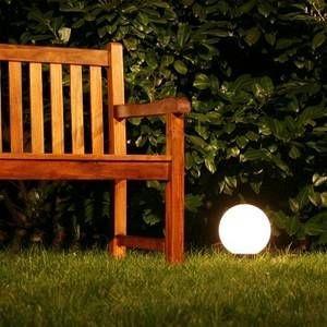 Hofstein Boule lumineuse de jardin 50 cm Blanc, 1 lumière - Moderne/Design - Extérieur - 20