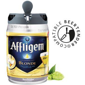 Affligem Fût de bière Blonde - Compatible Beertender - 5 L Fût de bière Blonde - Compatible Beertender - 5 L - Fonctionne sans tireuse - 6,7 %