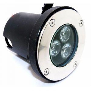 Silamp Spot LED Encastrable Extérieur IP65 220V Sol 3W 80° - Blanc Chaud 2300K - 3500K -