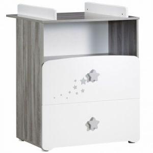 Sauthon New Nao - Commode à langer 2 tiroirs + grande niche