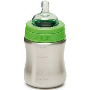 Klean Kanteen Kid Kanteen Baby Bottle - Gourde - Medium Flow 267ml vert/argent Bouteilles inox