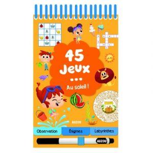Editions Auzou Livre de jeux 45 jeux ... au soleil !