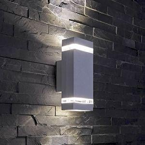 Biard Applique Extérieure Murale LED GU10 - Boîtier Aluminium Gris Argenté