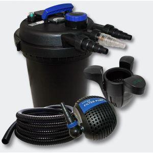 Kit de Filtration à Pression 10000l 11W UVC Stérilisateur Pompe Skimmer