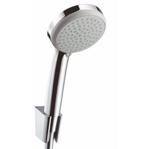 Hansgrohe 27594000 - Set de douchette Croma 100 Vario avec support de douche Porter' S et flexible Isiflex (1,60 m)