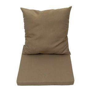 Naterial Coussin de remplacement pour salon bas de jardin : Dossier + assise polyester LOLA