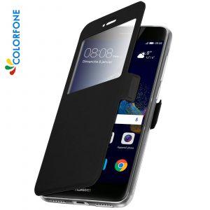 Huawei Etui Rabattable Noir Avec Ouverture Ecran pour P8 Lite 2017