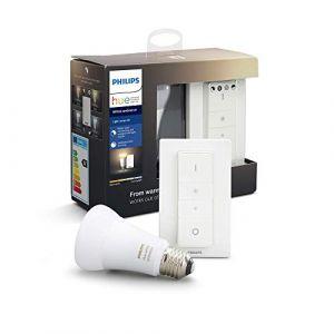 Philips Hue Light Recipe Kit White Ambiance E27 avec télécommande variateur de lumière Compatible Bluetooth, Fonctionne avec Alexa