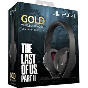 Sony Casque-micro sans fil PS4 Édition Spéciale The Last of Us part II Limitée, Audio 3D, Édition Gold