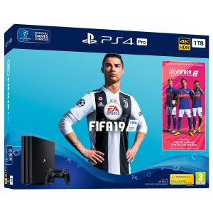 Sony Console PS4 Pro 1To+FIFA19+2nd DS4+Voutcher