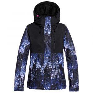 Roxy Jetty 3 en 1-Veste de Ski/Snowboard pour Femme, Medieval Blue Sparkles, FR : L (Taille Fabricant : L)