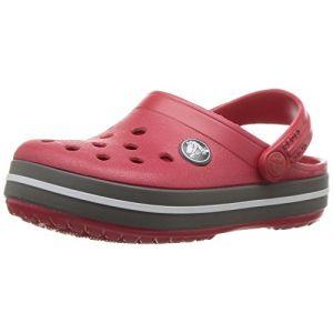 Crocs Crocband Clog Kids, Sabots Mixte Enfant, Rouge (Pepper/Graphite), 34-35 EU