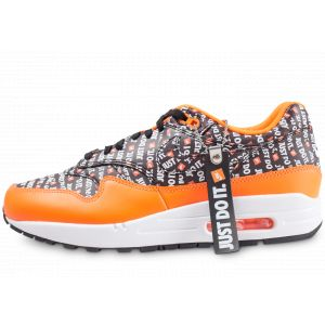 Nike Air Max 1 Premium, Sneakers Basses Homme, Multicolore Black/Total Orange/White 001, 43 EU