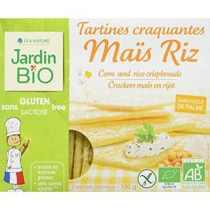 Jardin Bio Tartines Craquantes Maïs et Riz Sans Gluten - 150 g