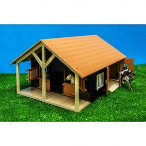 Kids Globe Écuries de ferme avec 2 box et 1 atelier 1:24 610167