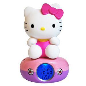 Teknofun 811169 - Réveil numérique et lampe Hello Kitty