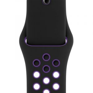 Nike Bracelet Sport Black/Hyper Grape 40 mm (S/M& M/L) - Noir - Taille ONE SIZE