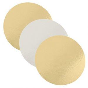 FunCakes 3 plateaux ronds - argenté/doré - 20 cm