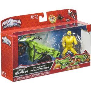 Bandai Power Rangers Ninja Steel Mega Morph Véhicule jaune
