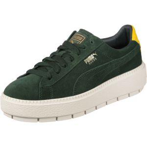 Puma PlatformTraceBold W Lo Sneaker vert jaune blanc vert jaune blanc 37 EU