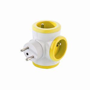 Watt & co Bloc prise TRIPLITE 3X16A rotatif jaune
