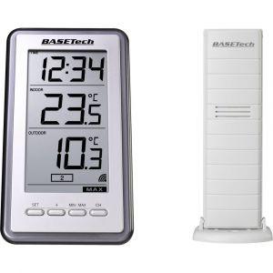 Basetech Thermomètre radiopiloté TS-9160 argent