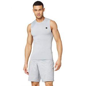 Under Armour Débardeur Rush Heatgear Compression pour Homme, Gris (Mod Gray), XL (Taille fabricant: XL)