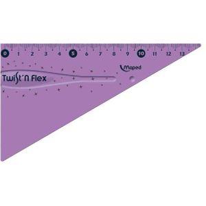 Maped Équerre 60° Twist'n Flex incassable et souple 15 cm