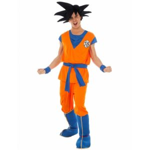 Chaks Déguisement Goku Saiyan Dragon ball Z adulte S