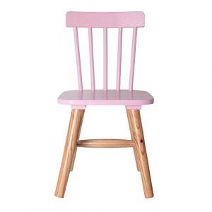 The home deco factory Chaise enfant - 29 x 33 x 58 cm - bois - rose